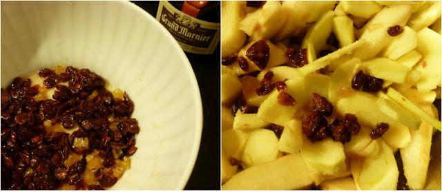 crumble mele, pere, polenta