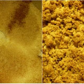 Crumble di mele, pere e polenta