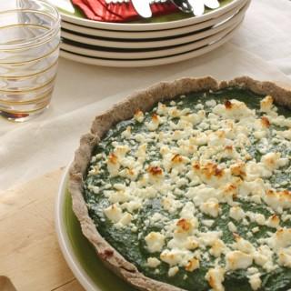Crostata rustica al grano saraceno, spinaci e feta (senza glutine)