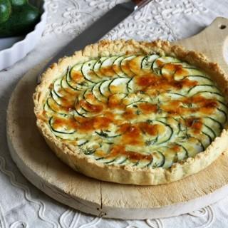 Crostata di zucchine con pasta frolla all'olio d'oliva