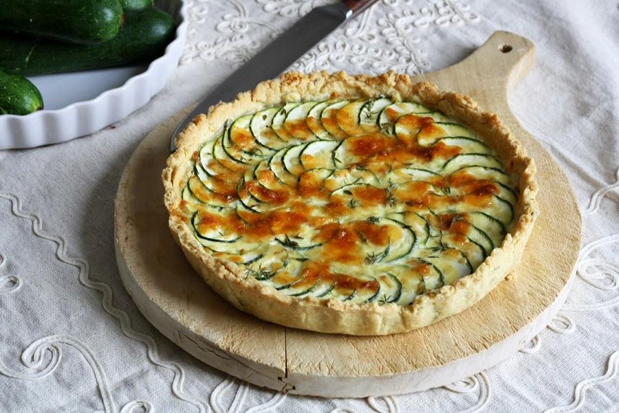 Crostata di zucchine con pasta frolla all'olio