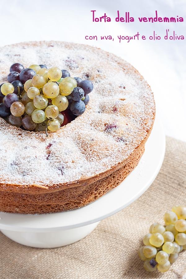 torta della vendemmia con uva