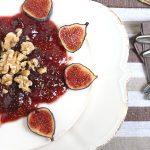 cheesecake marmellata di fichi e noci