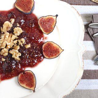 Cheesecake marmellata di fichi e noci (senza cottura)