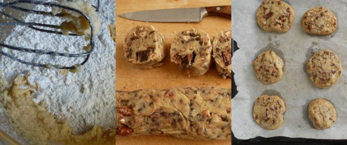 preparare Cookies al cioccolato e noci pecan