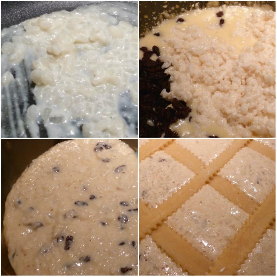 fasi preparazione crostata riso