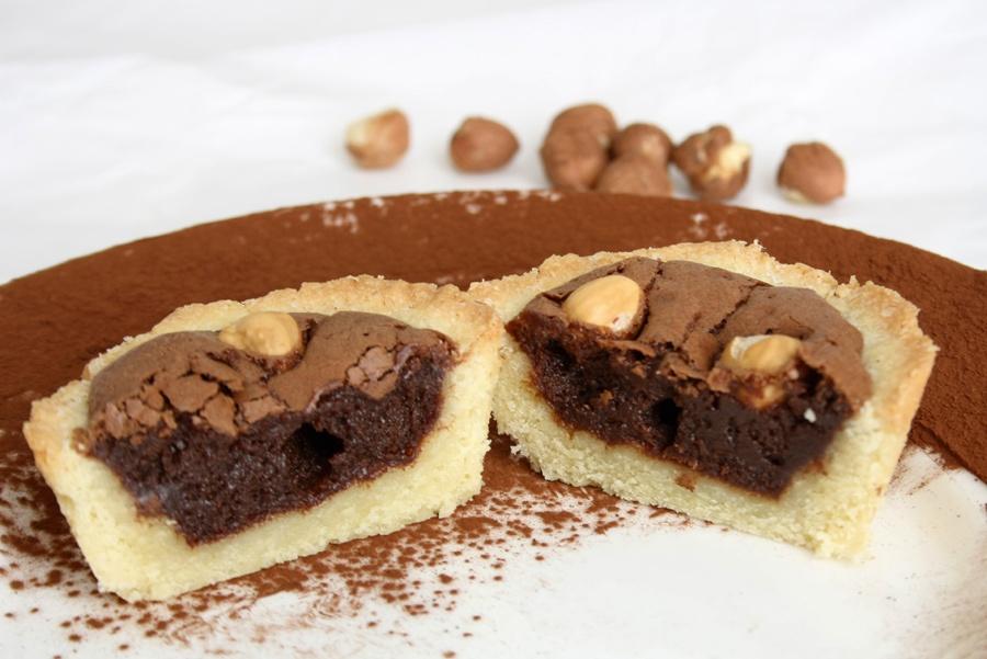 ricetta crostatine cioccolato nocciole