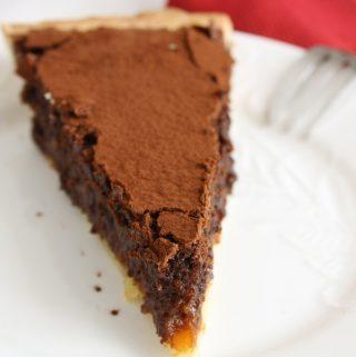 fetta crostata crema cioccolato