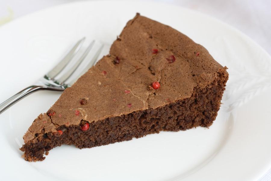 torta cioccolato e pepe rosa