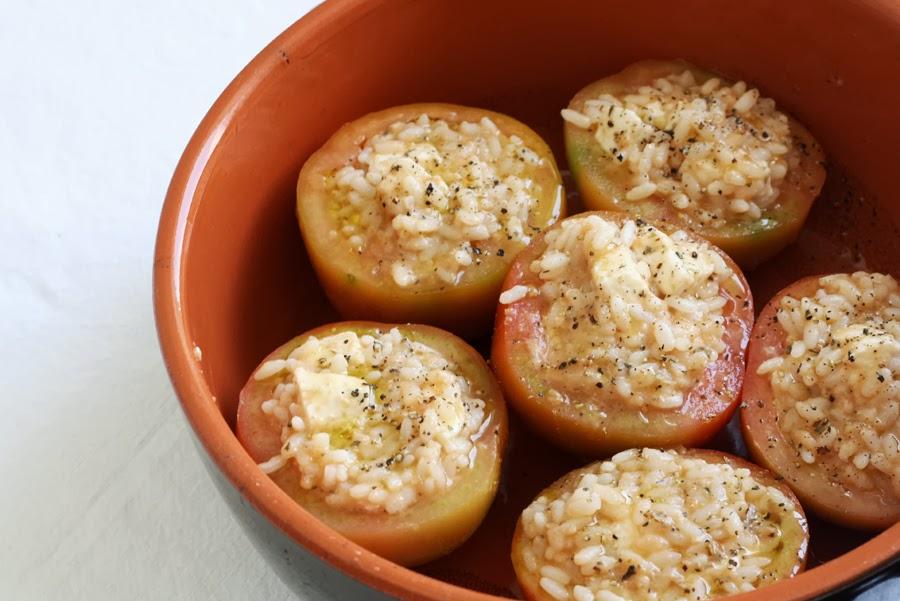 preparazione pomodori ripieni