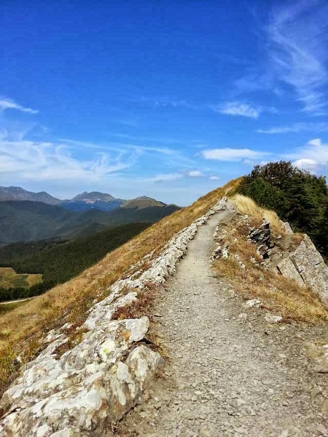 sentiero appennino toscano