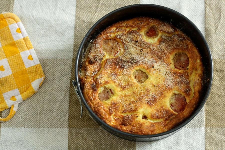 Cheesecake salato con ricotta e pomodorini
