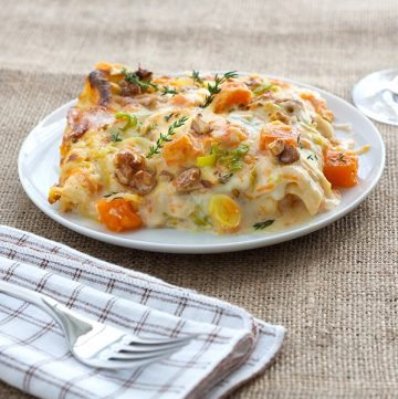 Kürbis-Lauch Lasagne Rezept