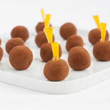 tartufi al cioccolato fondente