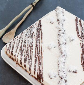Cheesecake al cocco senza cottura