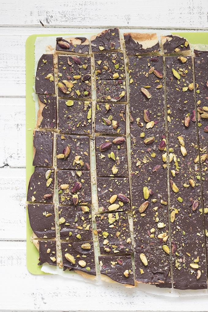 biscotti sablè cioccolato e pistacchio