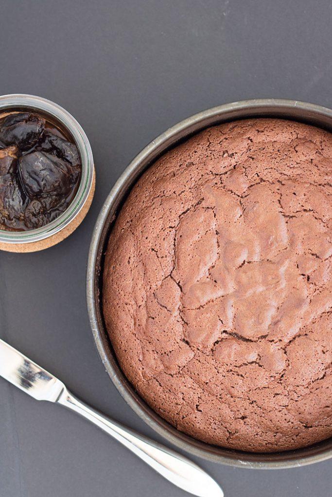 torta cioccolato e prugne