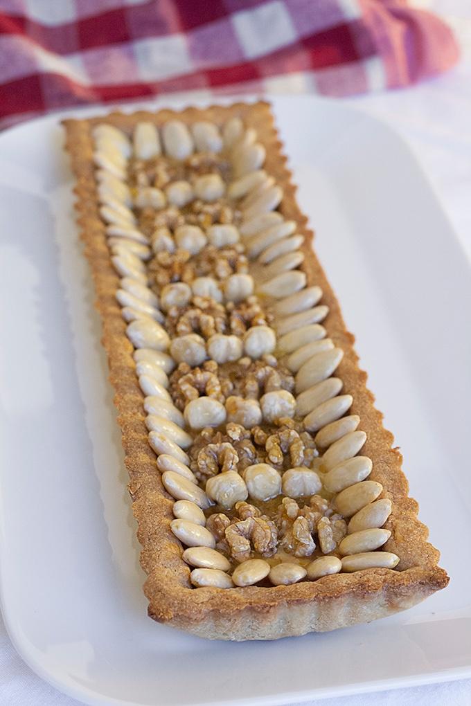 crostata con frolla al farro