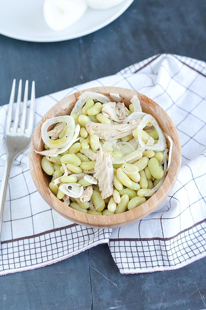 insalata di fagioli e cipolle