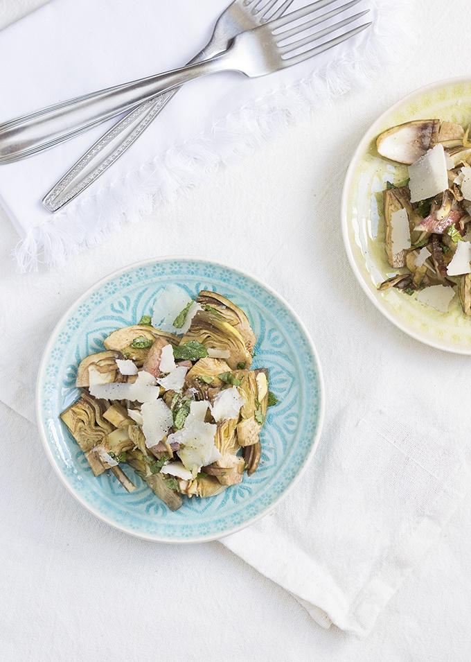 ricetta insalata particolare carciofi