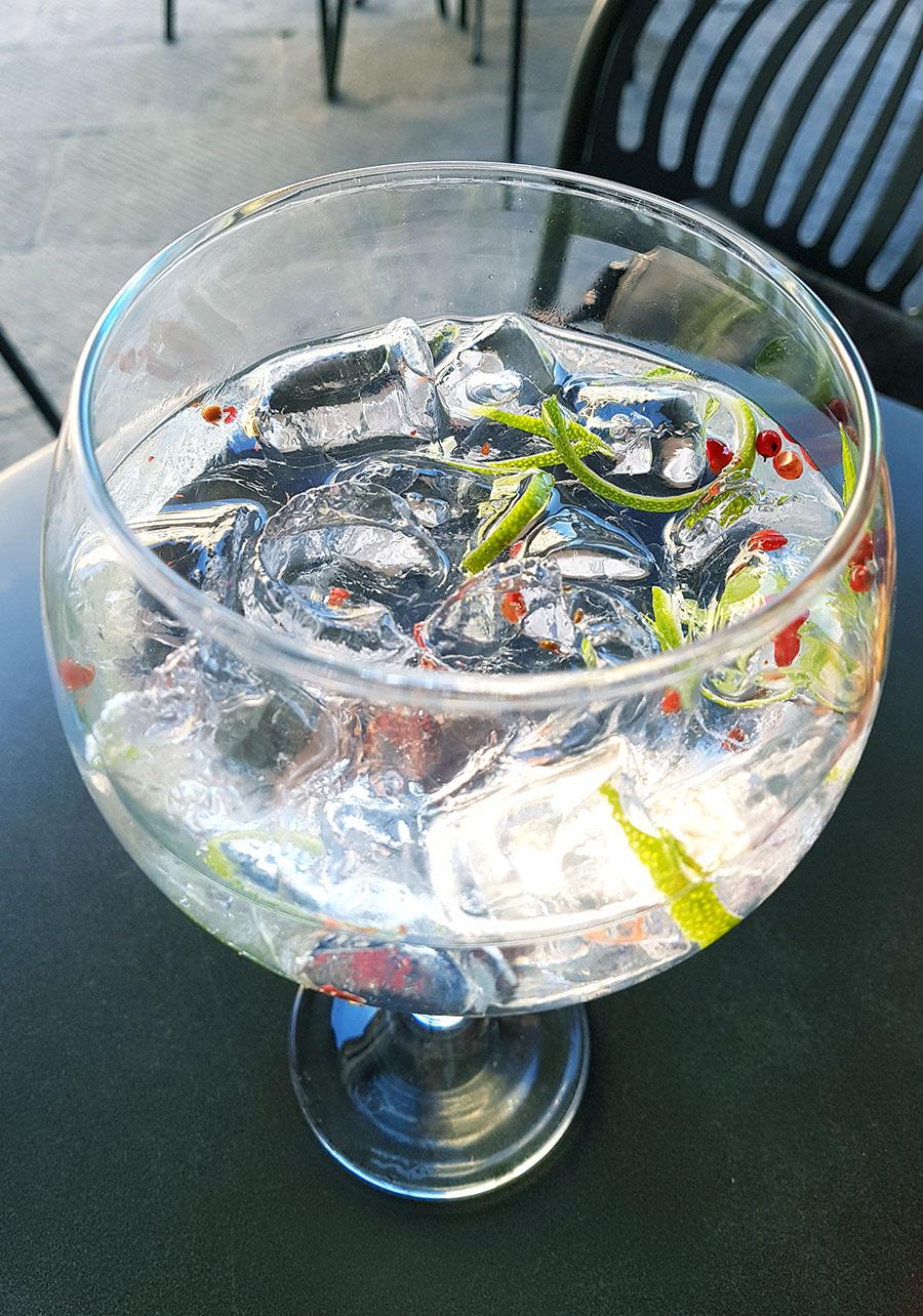 gin tonic pepe rosa